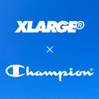 2.24.fri XLARGE®×Champion ZIP HOODED SWEAT