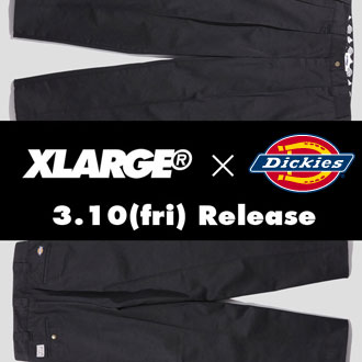 3.10.fri XLARGE®×Dickies WORK PANT