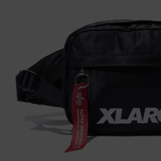 12.29.fri XLARGE®×ALPHA INDUSTRIES HIPBAG