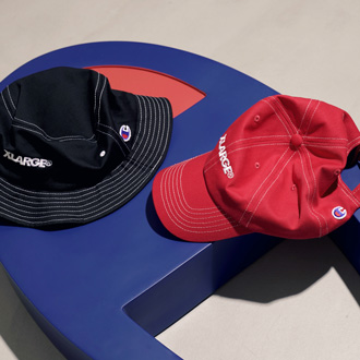 XLARGE®︎×Champion BUCKET HAT & DAD CAP